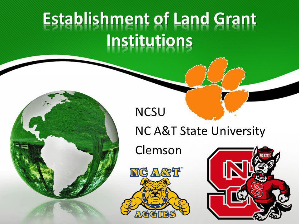 Establishment of Land Grant Institutions