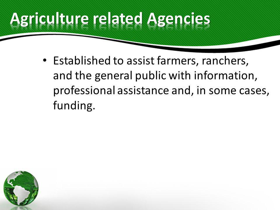 Agriculture related Agencies