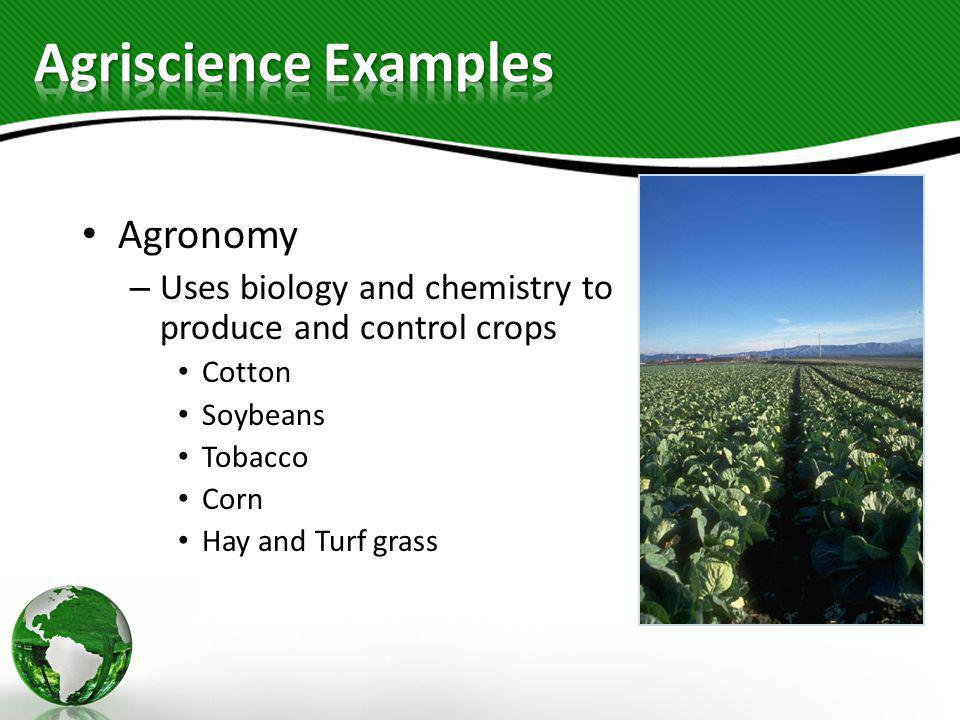 Agriscience Examples Agronomy