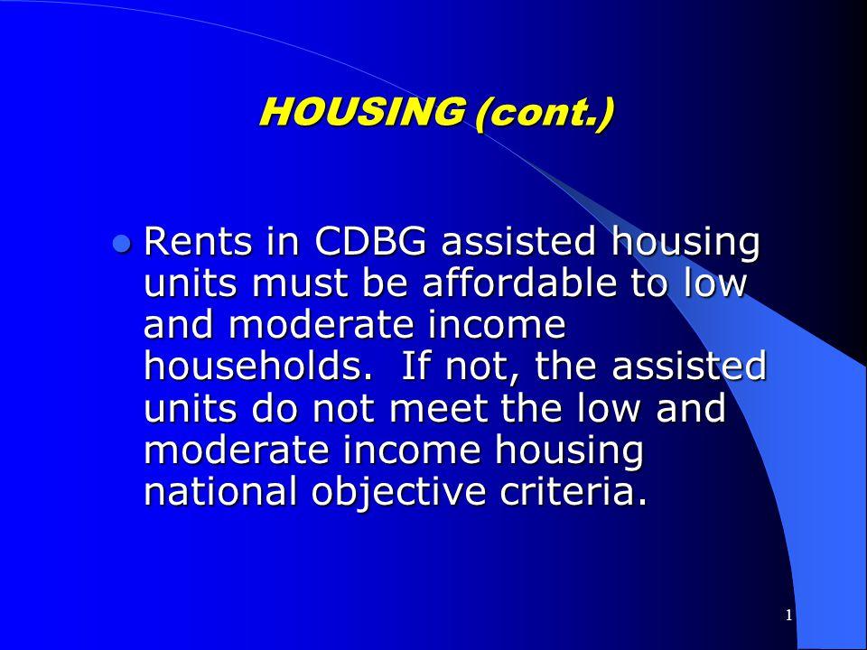 HOUSING (cont.)