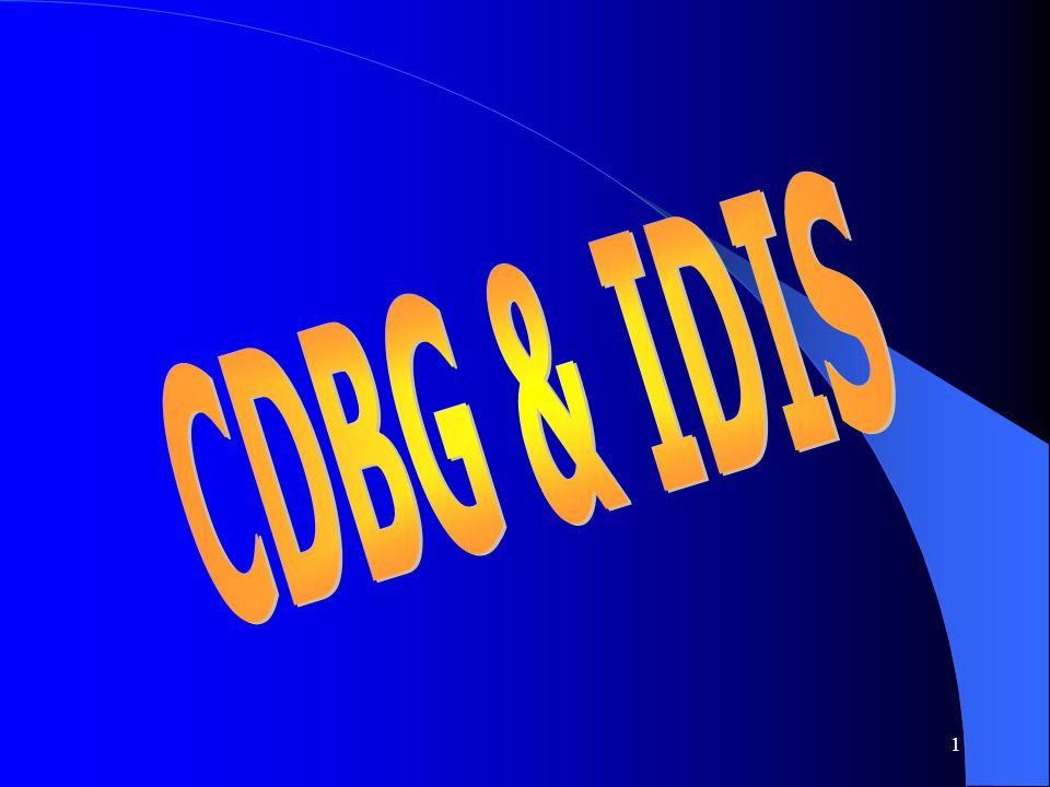 CDBG & IDIS