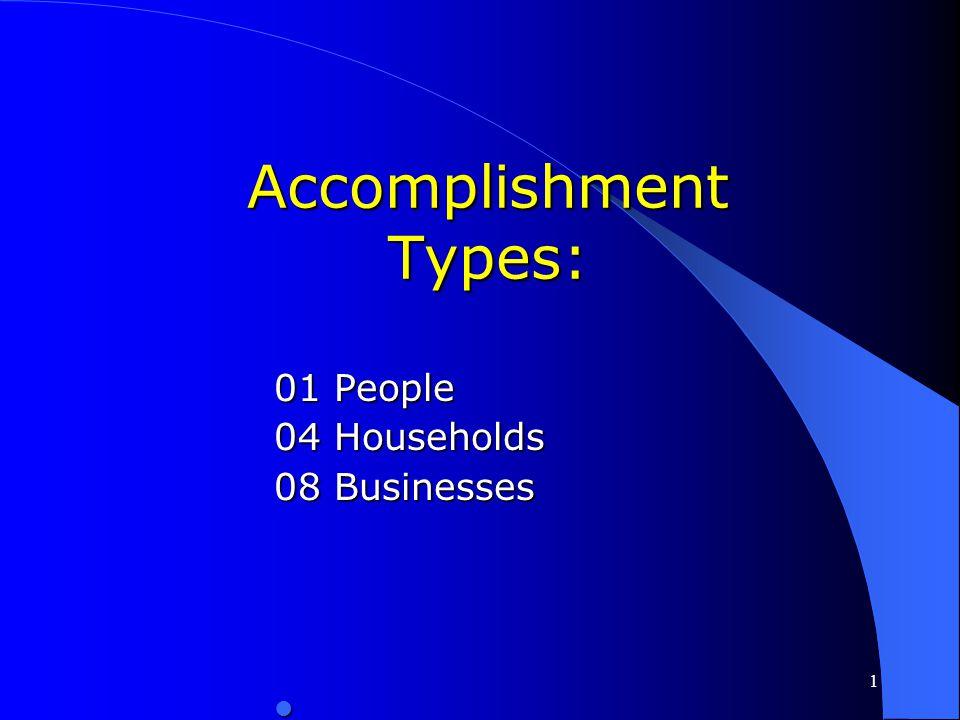 Accomplishment Types: