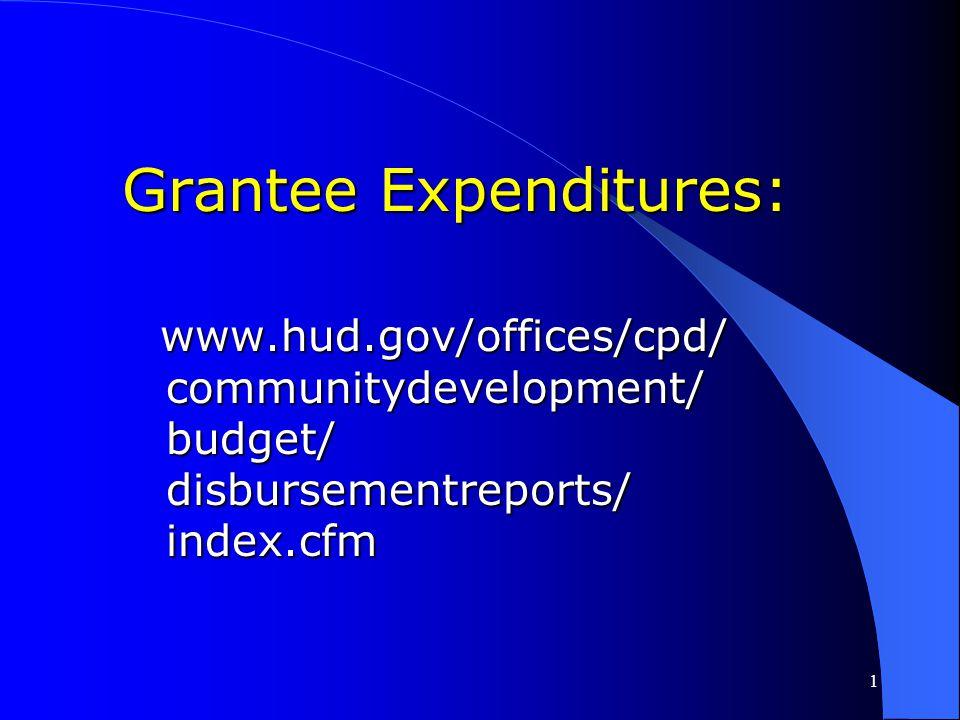 Grantee Expenditures: