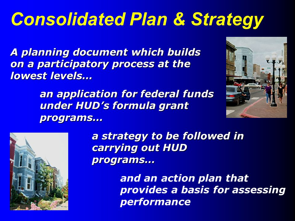 Consolidated Plan & Strategy