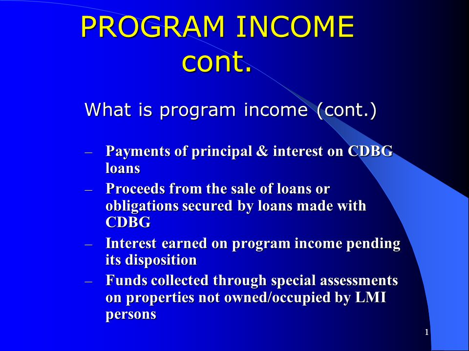 What is program income (cont.)