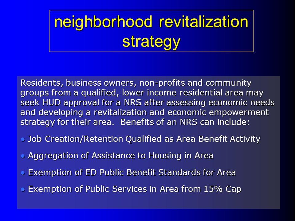 neighborhood revitalization strategy