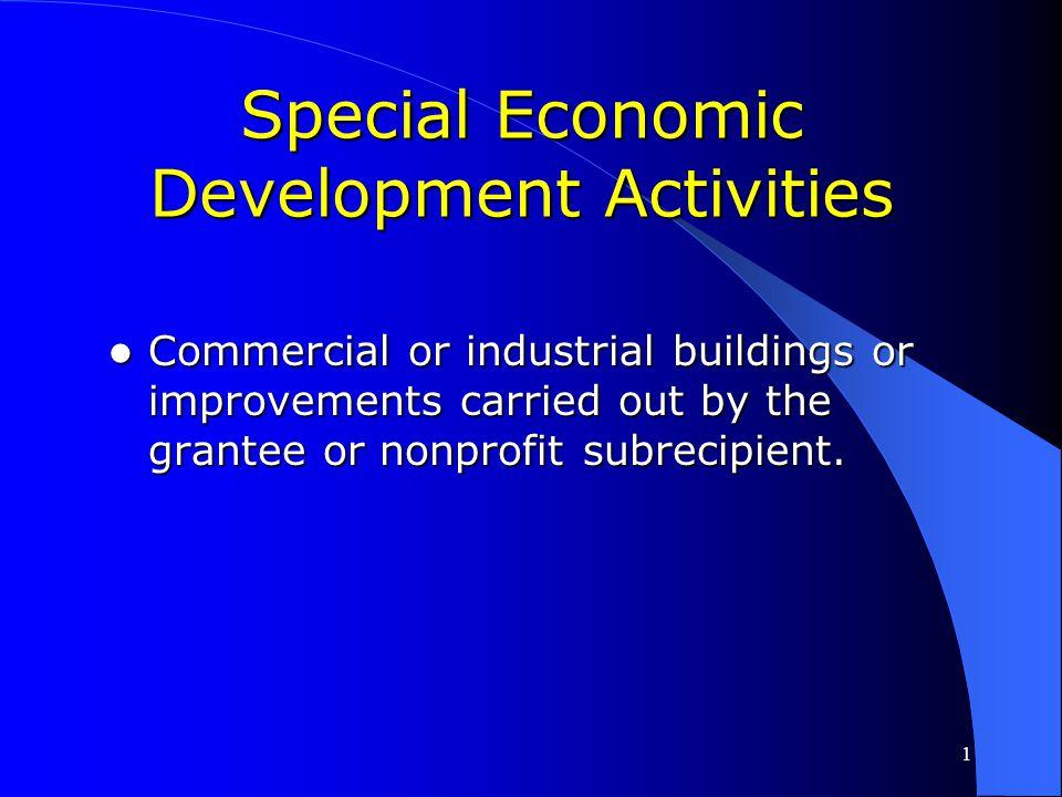 Special Economic Development Activities