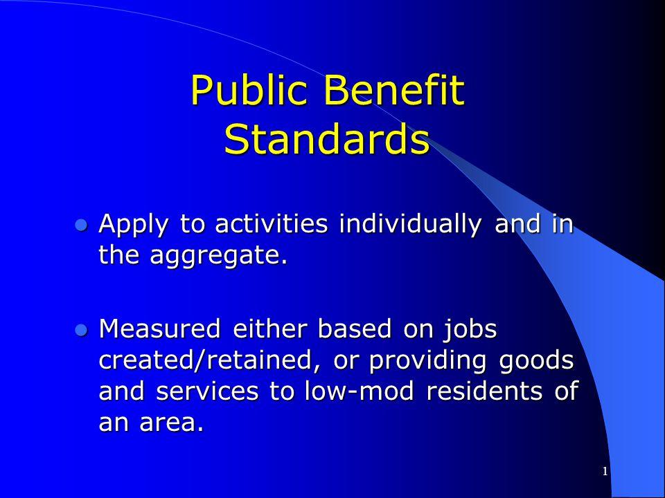 Public Benefit Standards