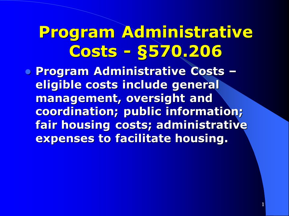 Program Administrative Costs - §570.206