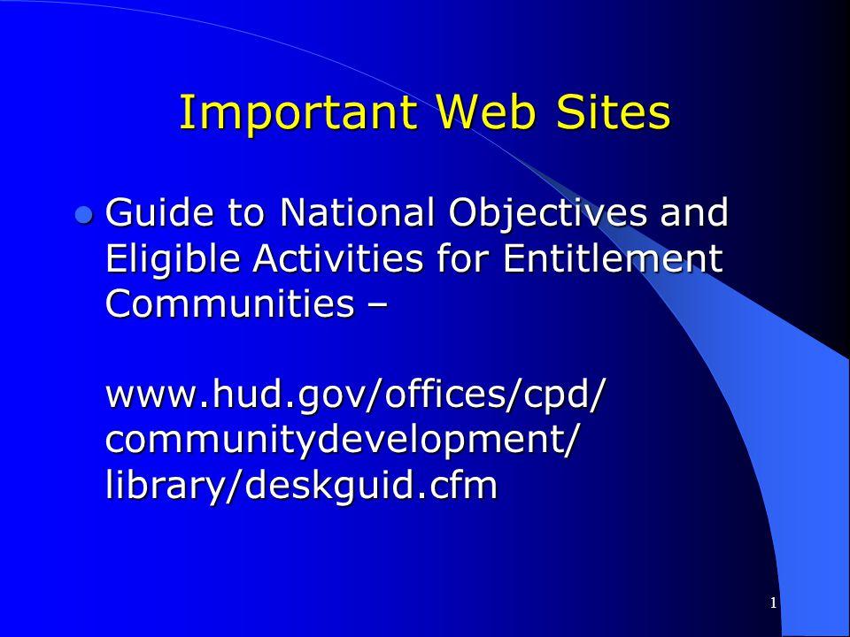 Important Web Sites