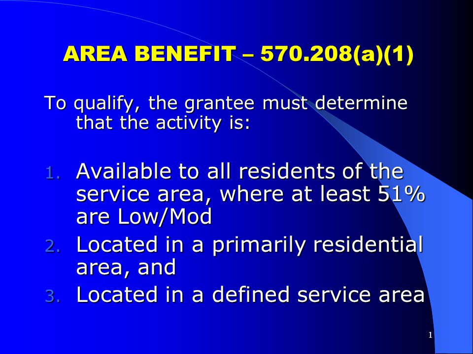 Located in a primarily residential area, and