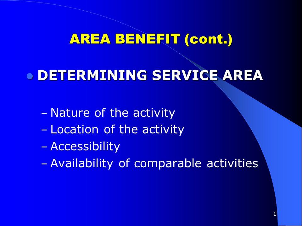 DETERMINING SERVICE AREA