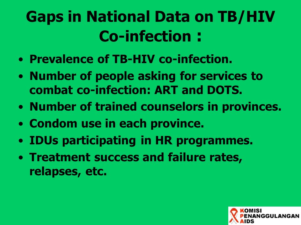 Gaps in National Data on TB/HIV Co-infection :