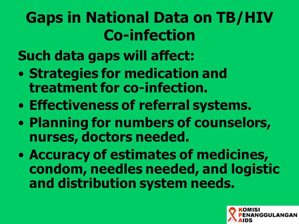 Gaps in National Data on TB/HIV Co-infection