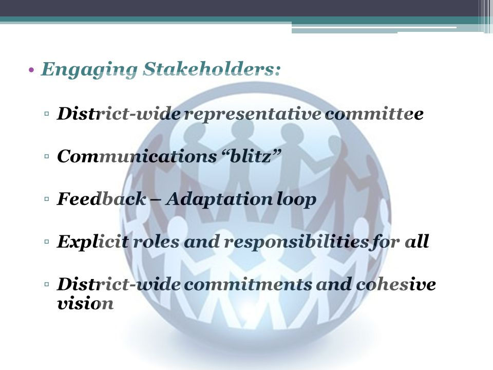 Engaging Stakeholders: