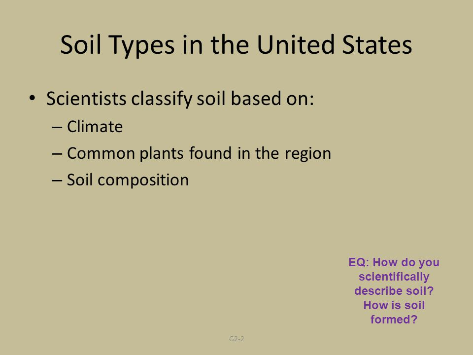 Soil Types in the United States