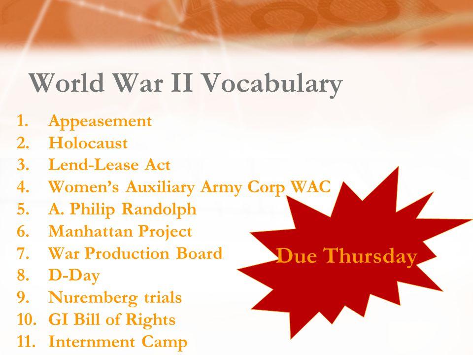 World War II Vocabulary