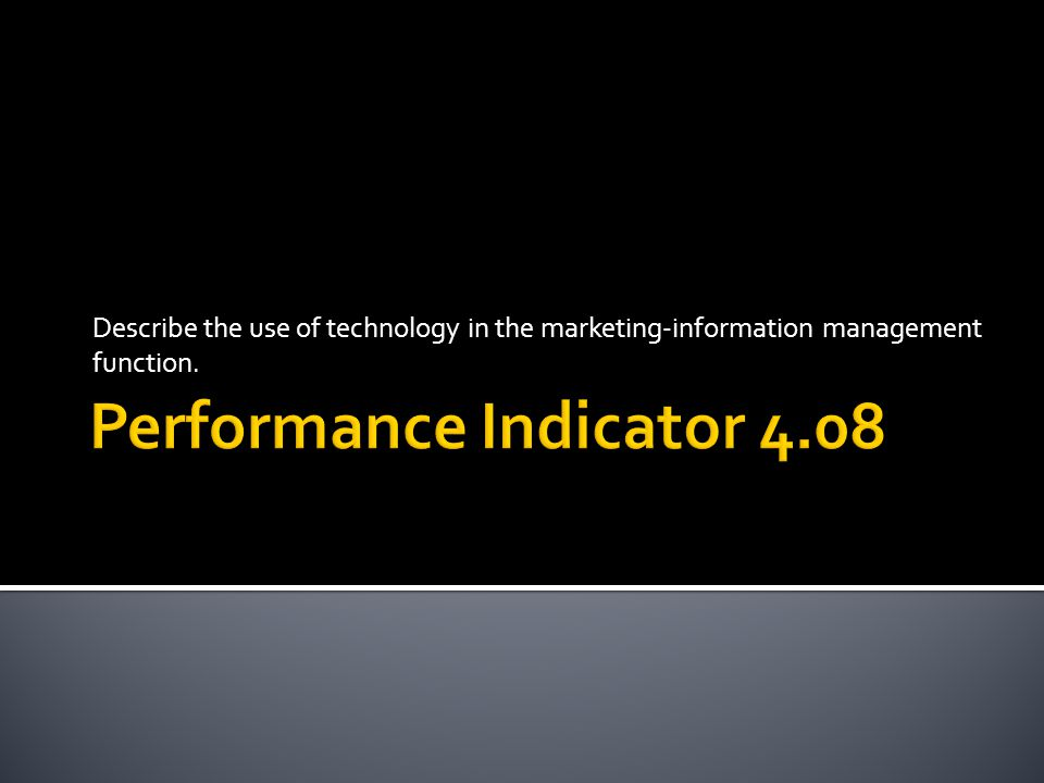 Performance Indicator 4.08