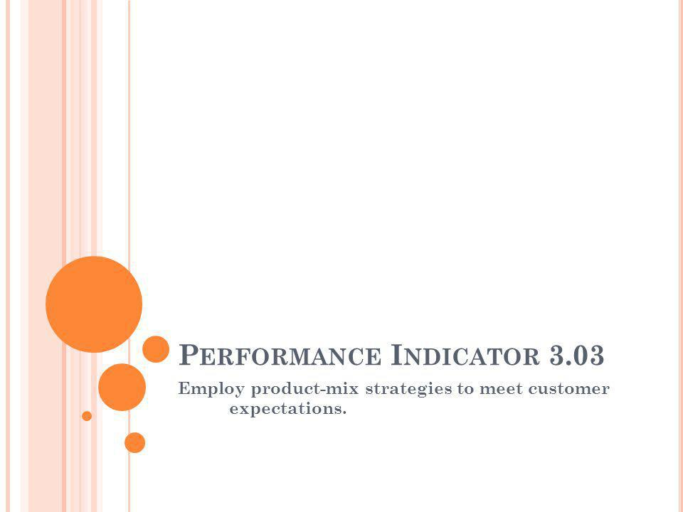 Performance Indicator 3.03