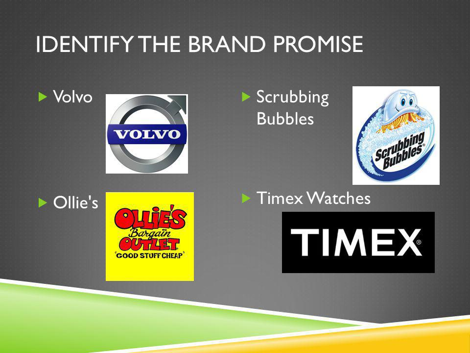 IDENTIFY THE BRAND PROMISE