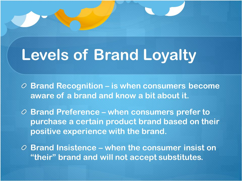 Levels of Brand Loyalty