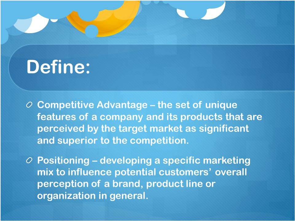 define the relationship between differentiation and positioning of products or services