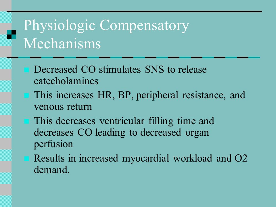 Physiologic Compensatory Mechanisms