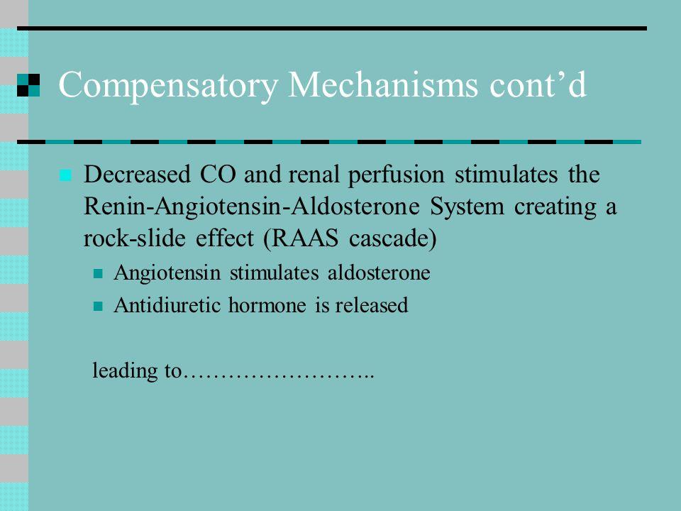Compensatory Mechanisms cont'd