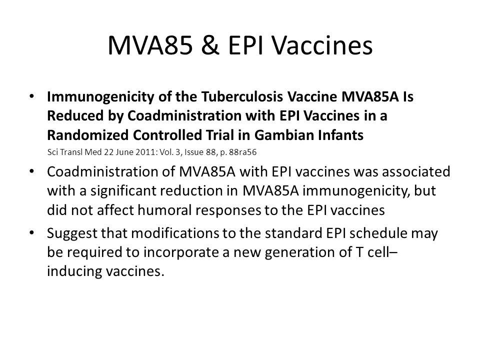 MVA85 & EPI Vaccines
