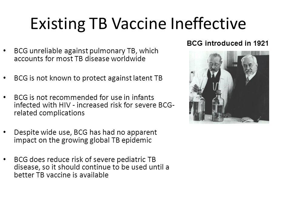 Existing TB Vaccine Ineffective