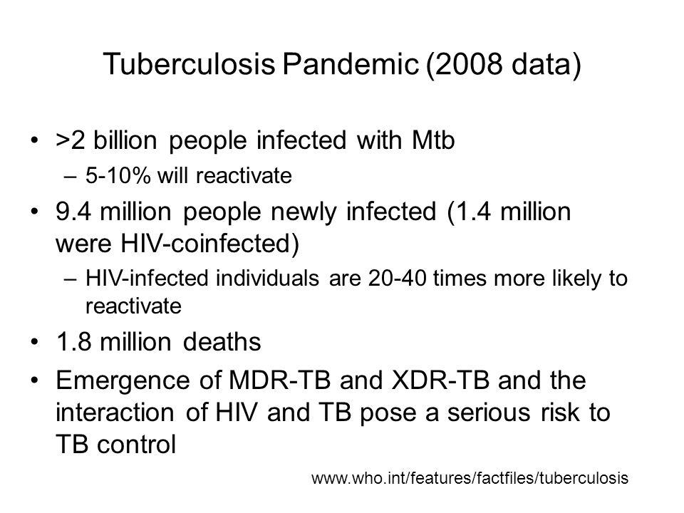 Tuberculosis Pandemic (2008 data)