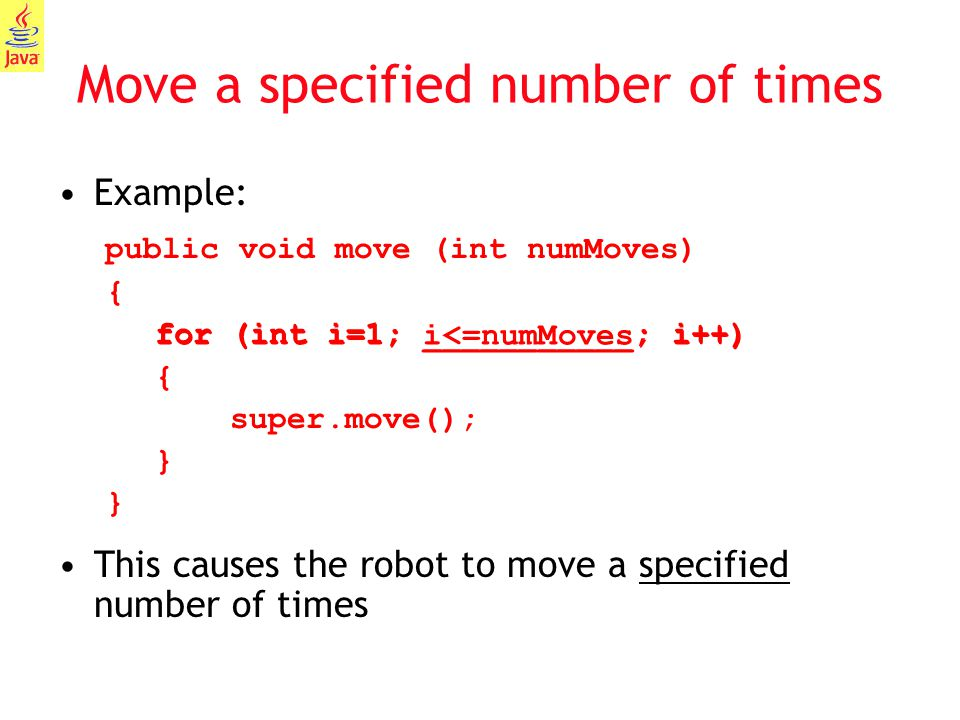 Move a specified number of times