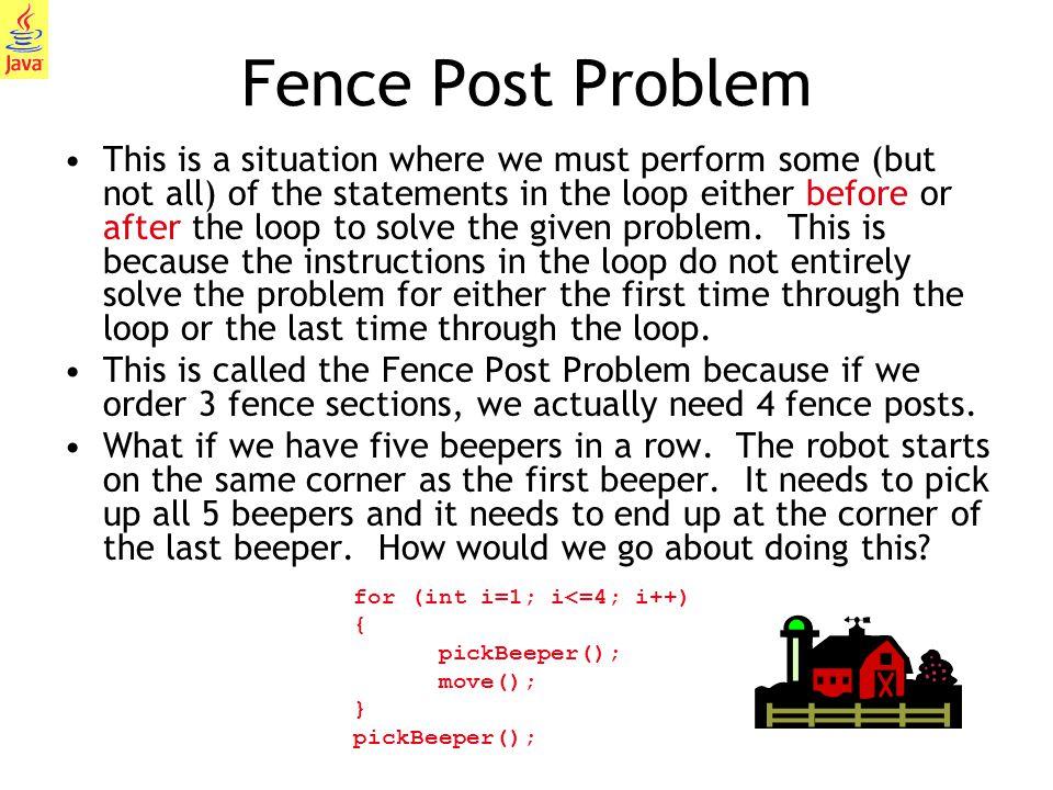Fence Post Problem