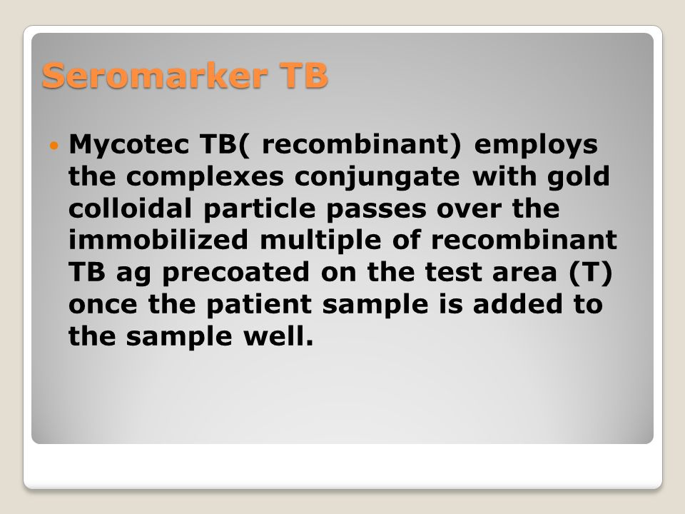 Seromarker TB