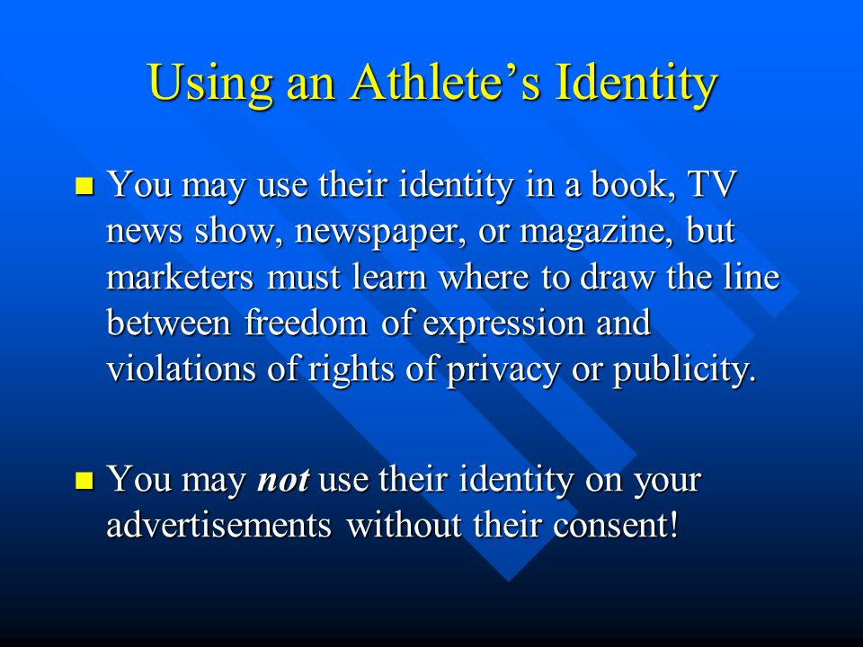 Using an Athlete's Identity