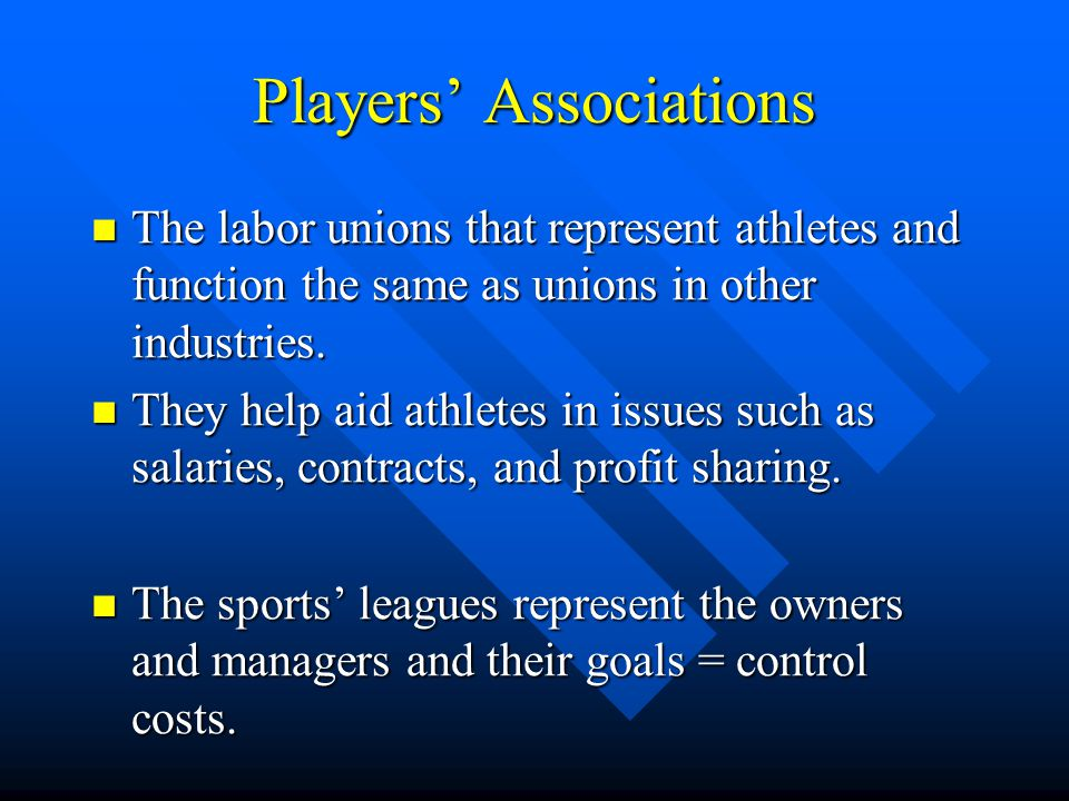 Players' Associations
