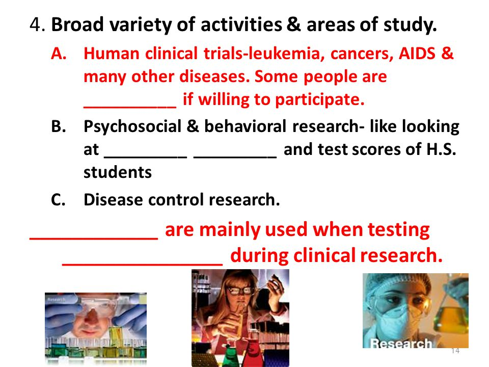 4. Broad variety of activities & areas of study.