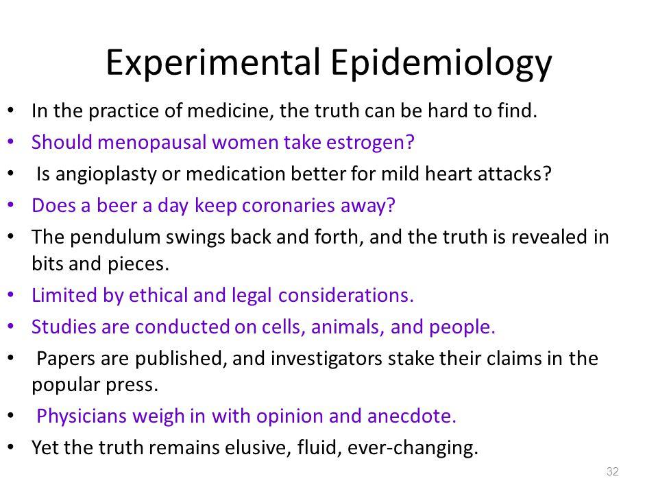 Experimental Epidemiology
