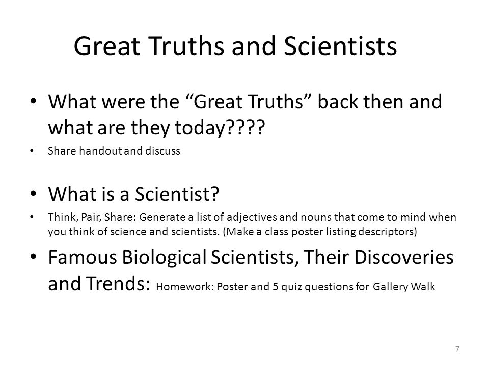 Great Truths and Scientists