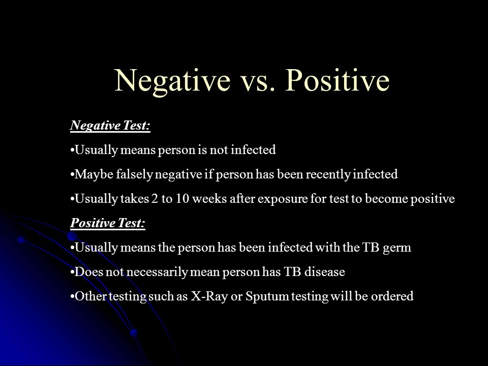 Negative vs. Positive Negative Test: