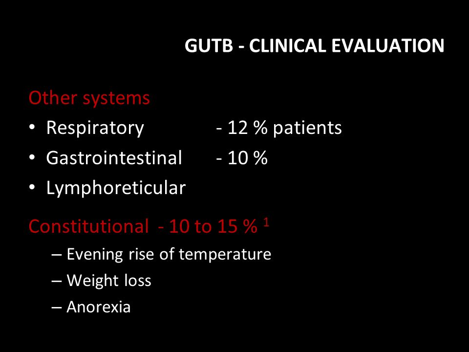 GUTB - CLINICAL EVALUATION
