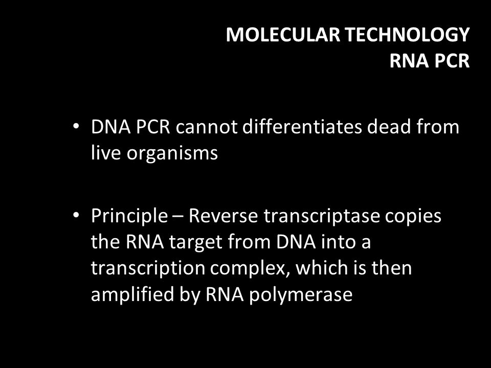 MOLECULAR TECHNOLOGY RNA PCR