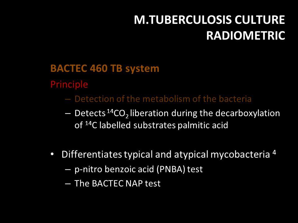 M.TUBERCULOSIS CULTURE RADIOMETRIC