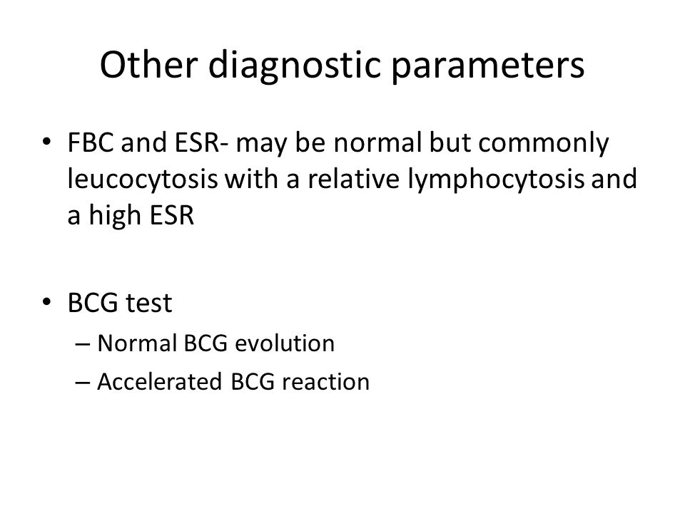 Other diagnostic parameters
