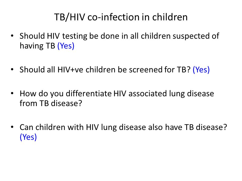 TB/HIV co-infection in children