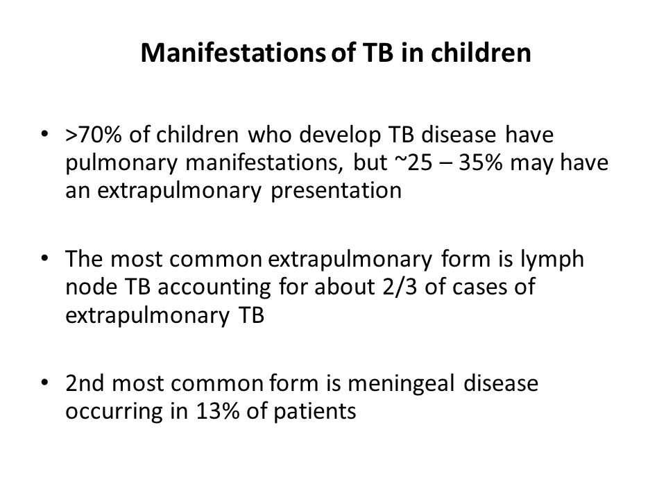 Manifestations of TB in children