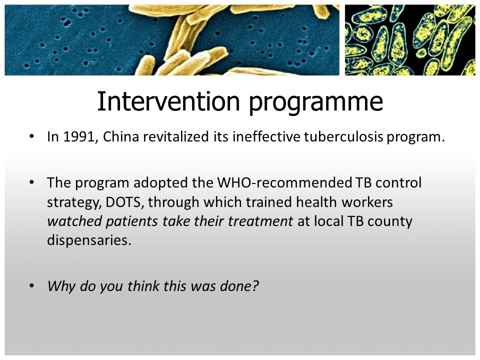 Intervention programme