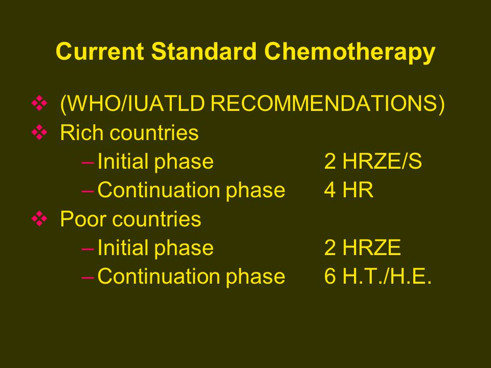 Current Standard Chemotherapy