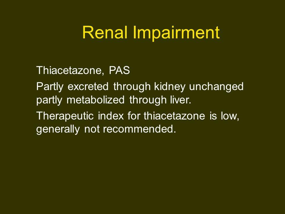 Renal Impairment Thiacetazone, PAS
