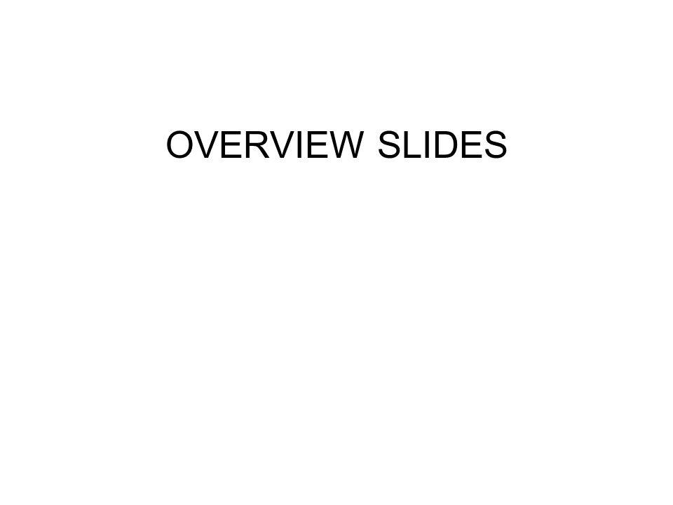 OVERVIEW SLIDES